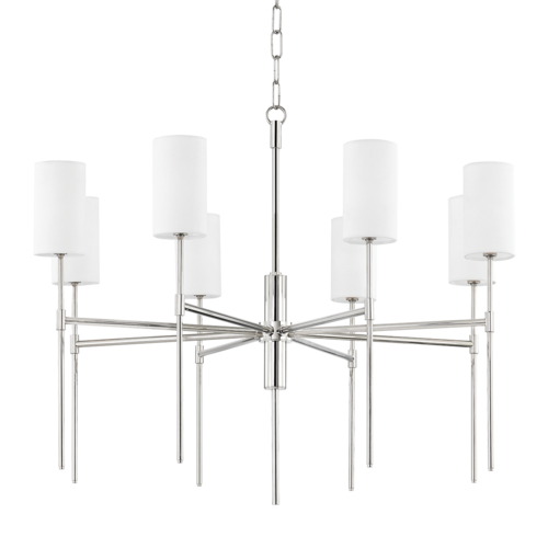 olivia 8 light chandelier