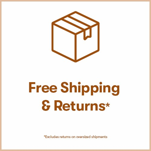 Free Shipping & Returns, Always