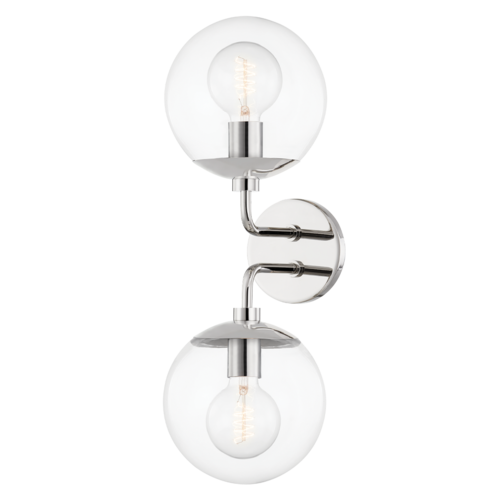meadow 2 light wall sconce