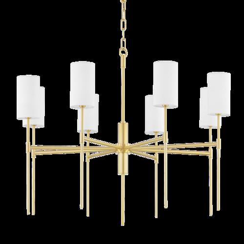 olivia 8 light chandelier