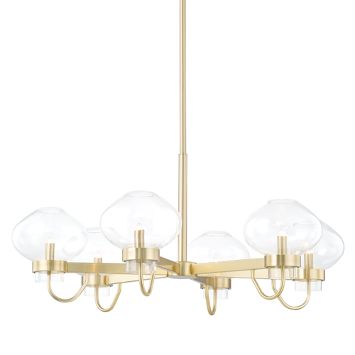 korey 6 light chandelier